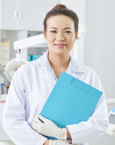 Female dentist considering incorporation