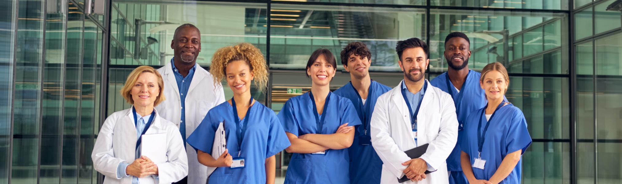 A group of multi-cultural medical professionals
